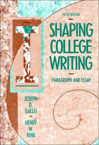 Shaping college writing