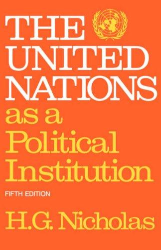 Download The United Nations As a Political Institution