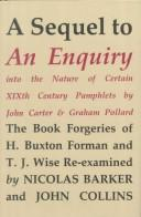 An enquiry into the nature of certain nineteenth century pamphlets