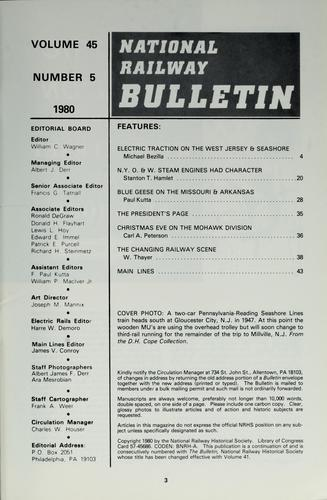 The bulletin / [National Railway Historical Society] by National Railway Historical Society