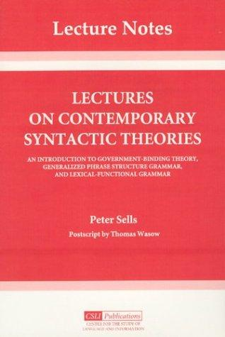 Download Lectures on Contemporary Syntactic Theories