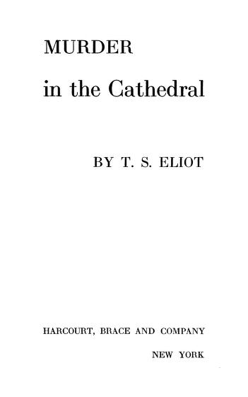 Murder In The Cathedral By  T. S. Eliot In Pdf
