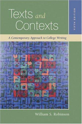 Texts and Contexts by William S. Robinson, Stephanie Tucker