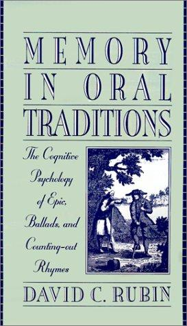 Memory in oral traditions